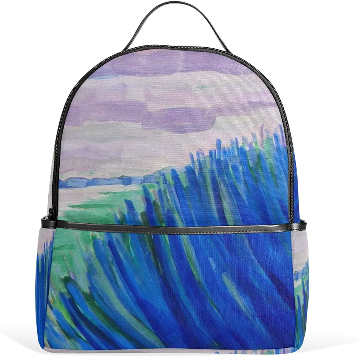 Mr.Weng Watercolor Art Printed Canvas Backpack For Girl and Children