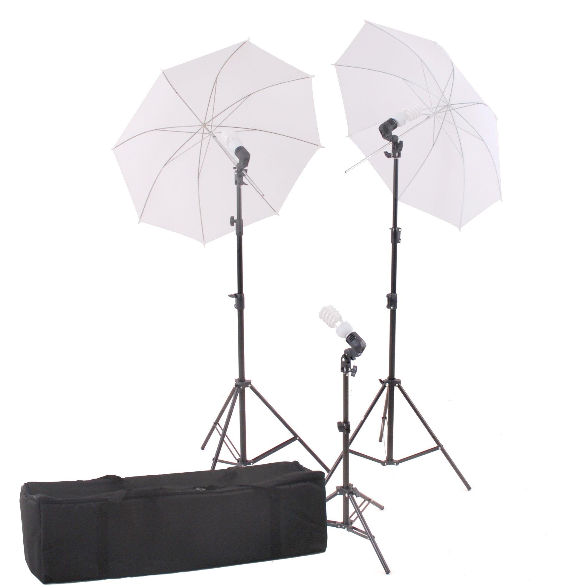 StudioFX Photography Photo Portrait Studio 600W Day Light Umbrella Continuous Lighting Kit by Kaezi CHDK3 by StudioFX