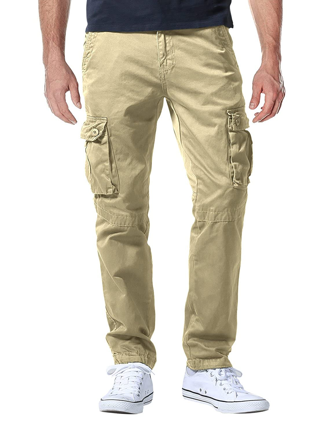 9368fb398e Classic style, hardwearing cargo pants with multiple pockets (refer to  pictures for pocket styles) Sits at the waist, regular fit, straight leg