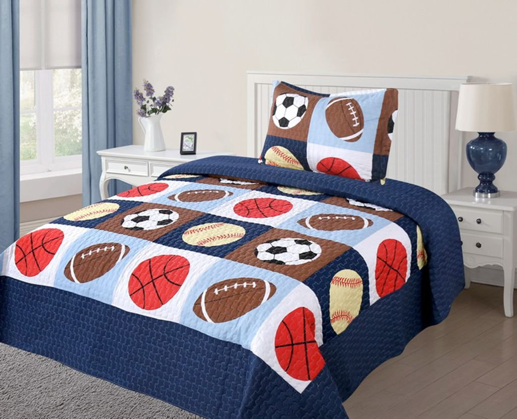 2 Piece Kids Bedspread Quilts Set