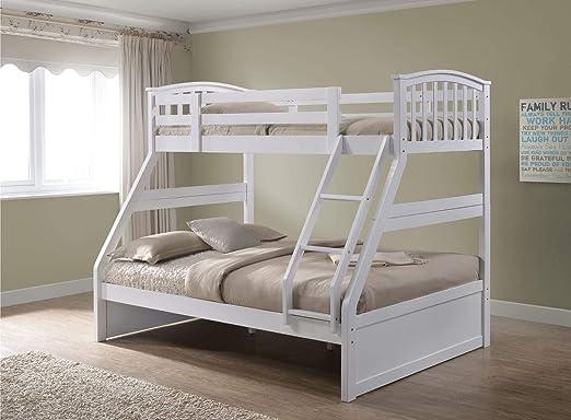 Inspiration Beds Litera Artesanal Blanca con Tres cajones para Dormir: Amazon.es: Hogar