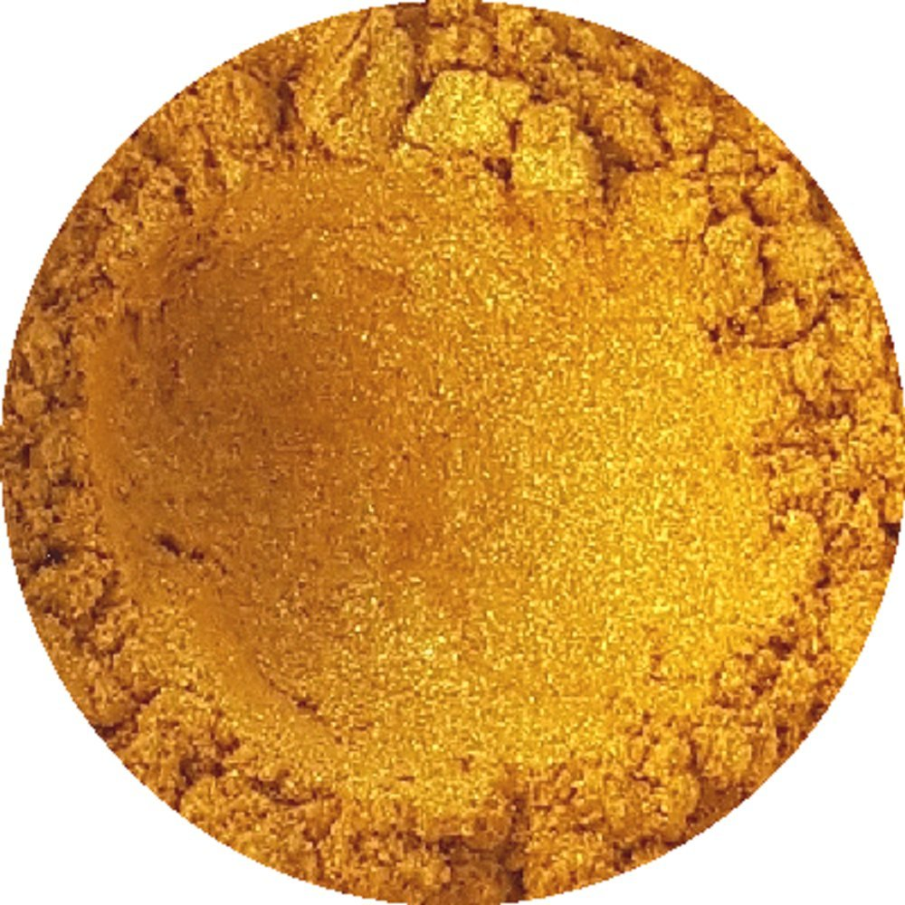 Golden Sparkle Cosmetic Mica Powder 3g-50g for Soap, Eyeshadow, Bathbombs (3g) TheSoapery