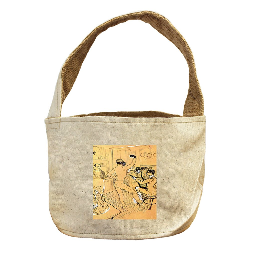 Style in Print Chocolat Dance (Toulouse Lautrec) Canvas and Burlap Storage Basket Basket