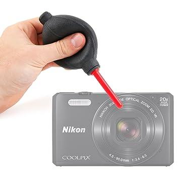 DURAGADGET Soplador Limpiador De Lentes para Cámara Reflex Nikon ...