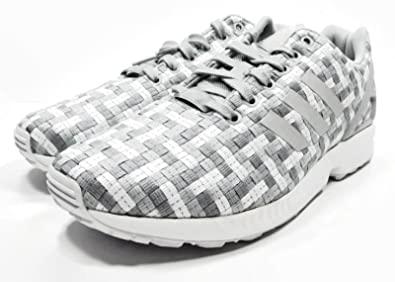 uk availability 6a5cd 0dfa9 Amazon.com | Adidas Originals Men's ZX Flux Woven Sneakers ...