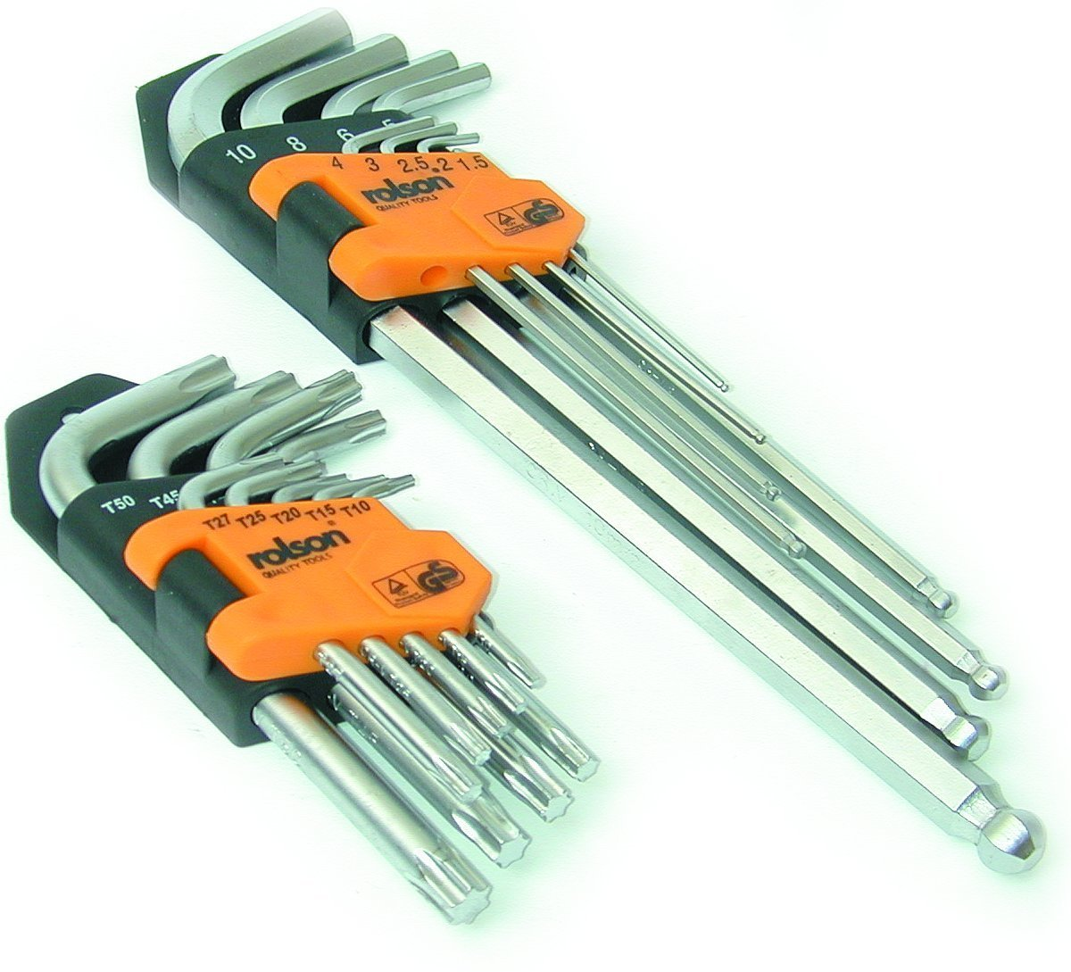 18 Pieces Rolson 40389 Ball Ended Hex Key Set