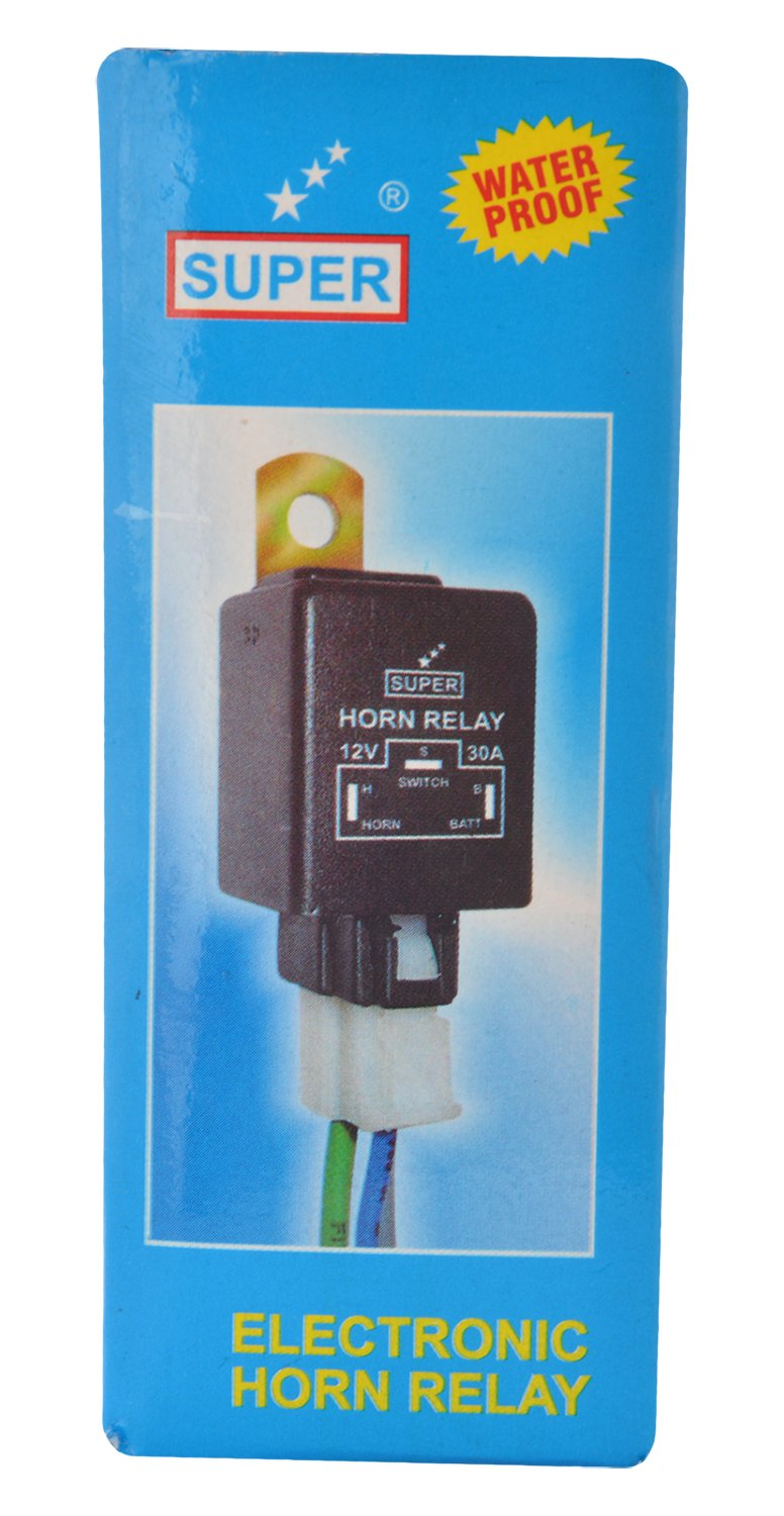 Super 1321 4-Pin Electronic Horn (12V): Amazon.in: Car & Motorbike