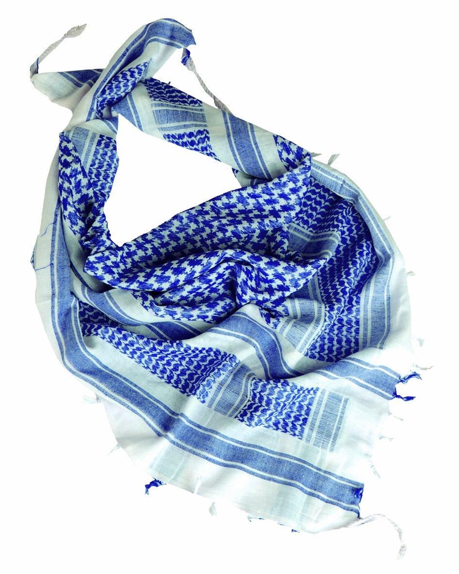 Mil-Tec–Accessori Softair–Cheche dimensioni 110 X 110 Cm Bianco (Bianco/Blu) 110 x 110cm 12617000