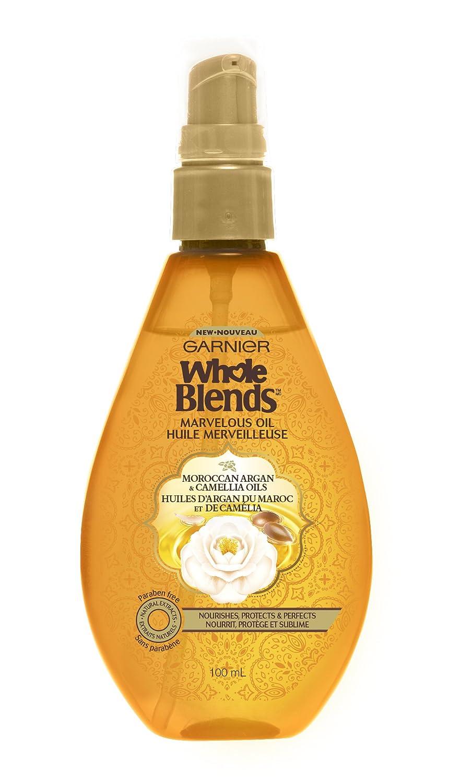 Garnier Hair Care Whole Blends Moroccan Argan and Camellia Extract Illuminating Oil, 3.4 Fluid Ounce