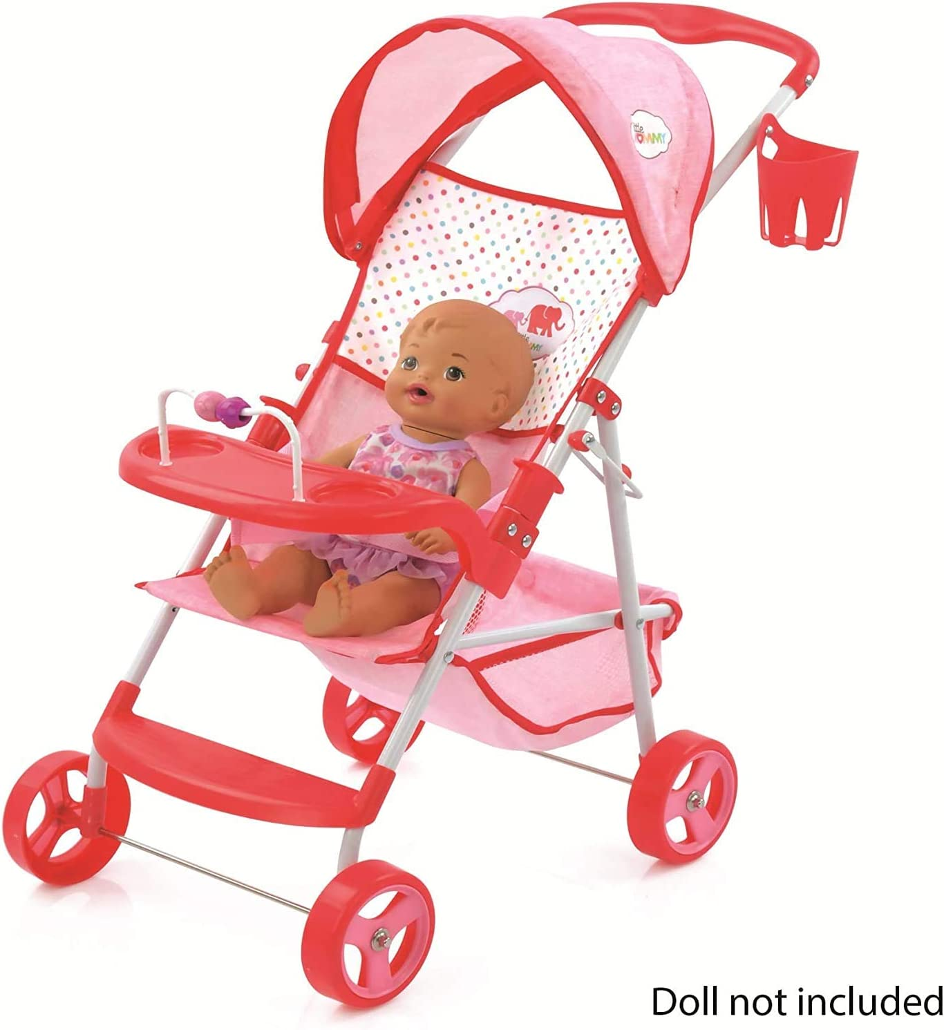 Little Mommy Doll Pram with  Canopy /& Accessories
