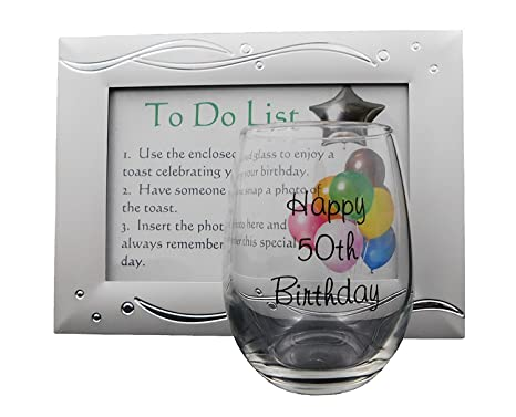 50th Birthday Present Unique Gift Idea For Women Or Men Capture A Toast With