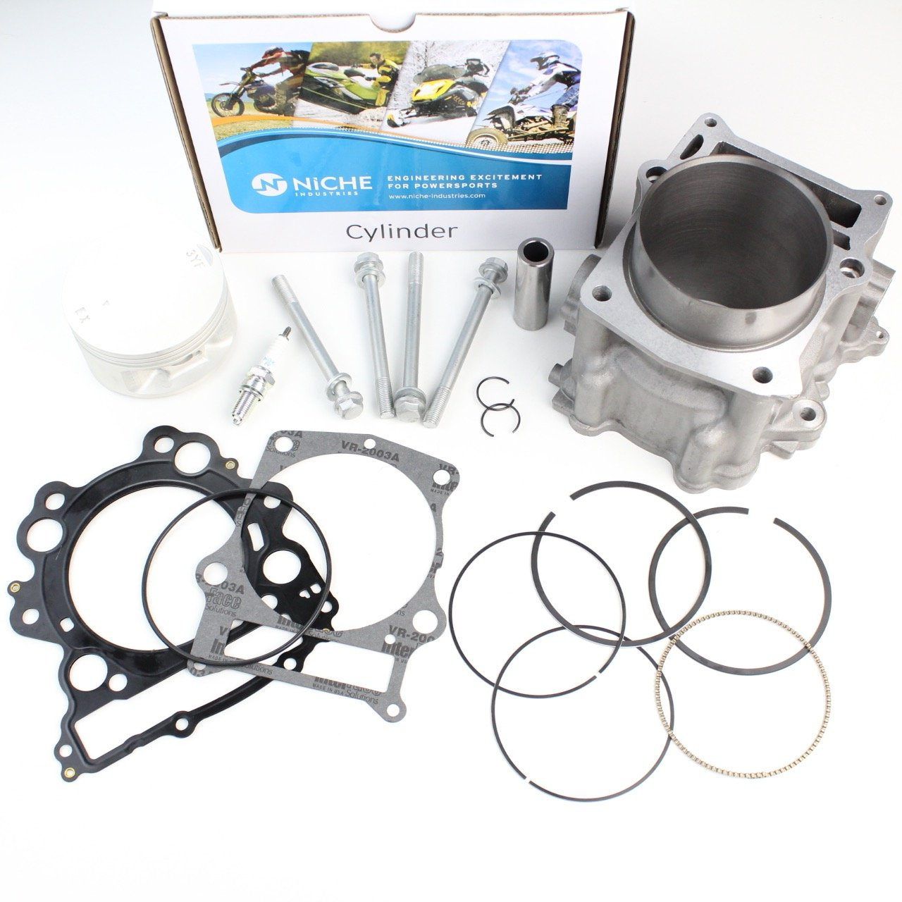 NICHE Cylinder Piston Gasket Top End Rebuild Kit for Yamaha Raptor 660R 2001-2005