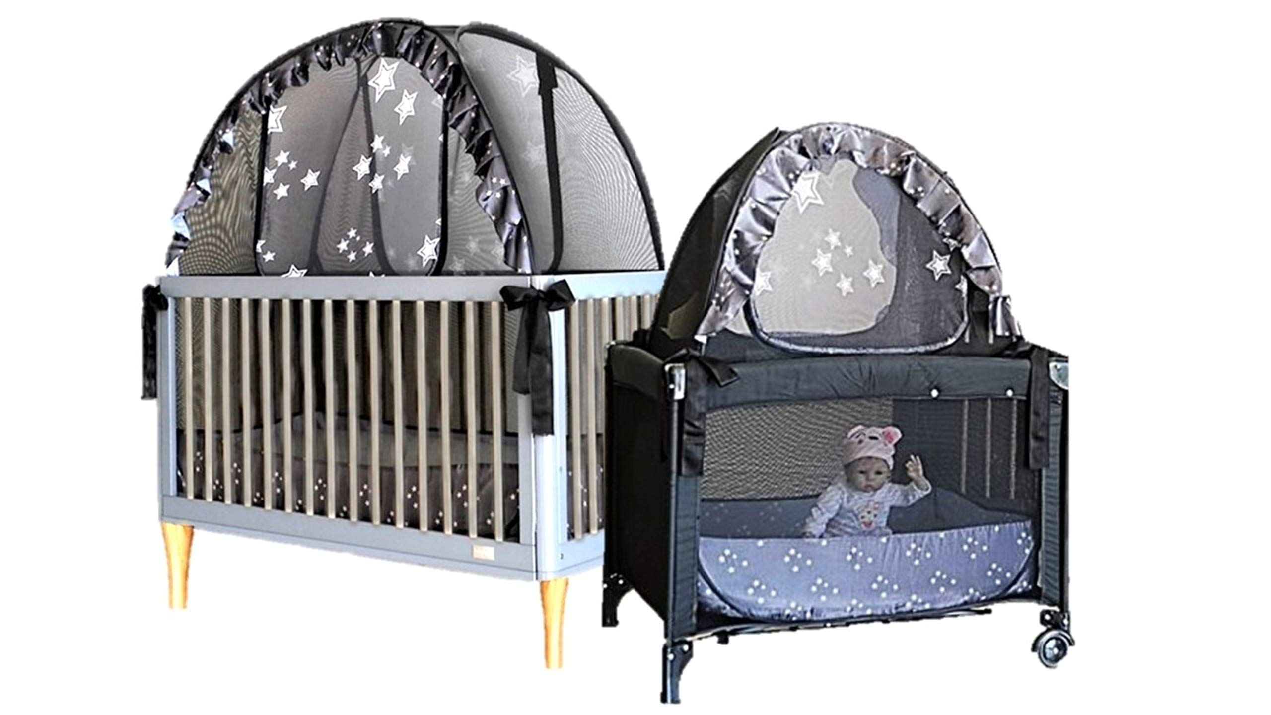 Popup Crib Tent and Travel Tent Bundle - Keep Babies and Toddlers from Climbing Out of The Crib and so Much More