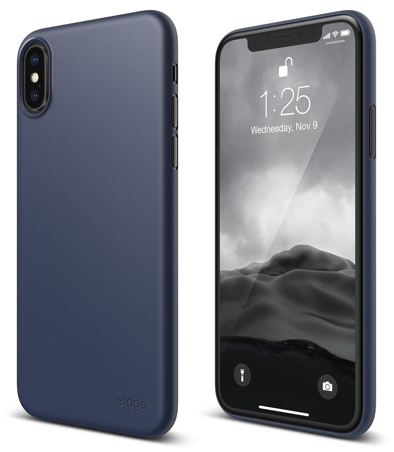 Elago Origin Series I Phone X Case   Minimalistic Design Slim Fit Scratch Resistant Protective Cover For Apple I Phone X (2017)   Jean Indigo by Elago
