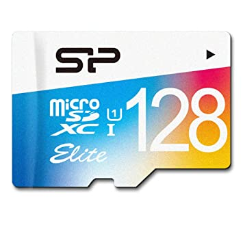 Silicon Power Elite - Tarjeta de memoria con adaptador SD, 128 GB, micro SDXC UHS-1 Class 10, velocidad de lectura hasta 75 MB/s, Flash
