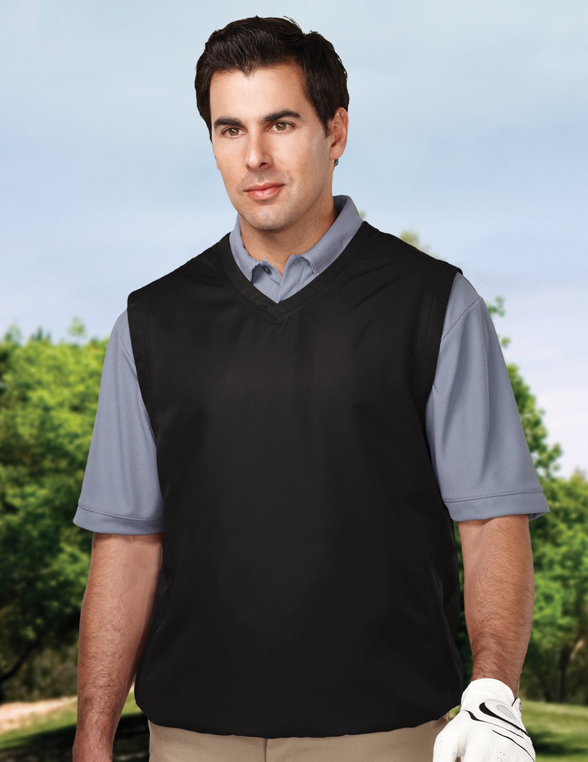 Tri-Mountain Big and Tall Windproof Water-Resistant Vest. J2612 Legend