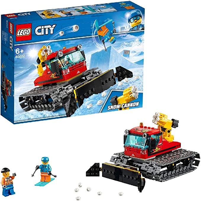 LEGO 60222 City Great Vehicles Snow Groomer with Plough Tracked Toy, Winter Holiday Sets for Kids: LEGO: Amazon.co.uk: Toys & Games