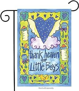 Thank Heaven For Little Boys Baby Mini Flag