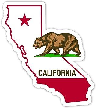 California Map California Bear Vinyl Decal Bumper Sticker 4 5 X 5 Automotive
