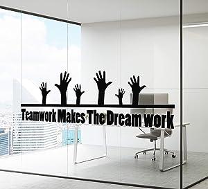 Wall Decal Office Teamwork Team Motivational Inspirational Quote Vinyl Decor z4917