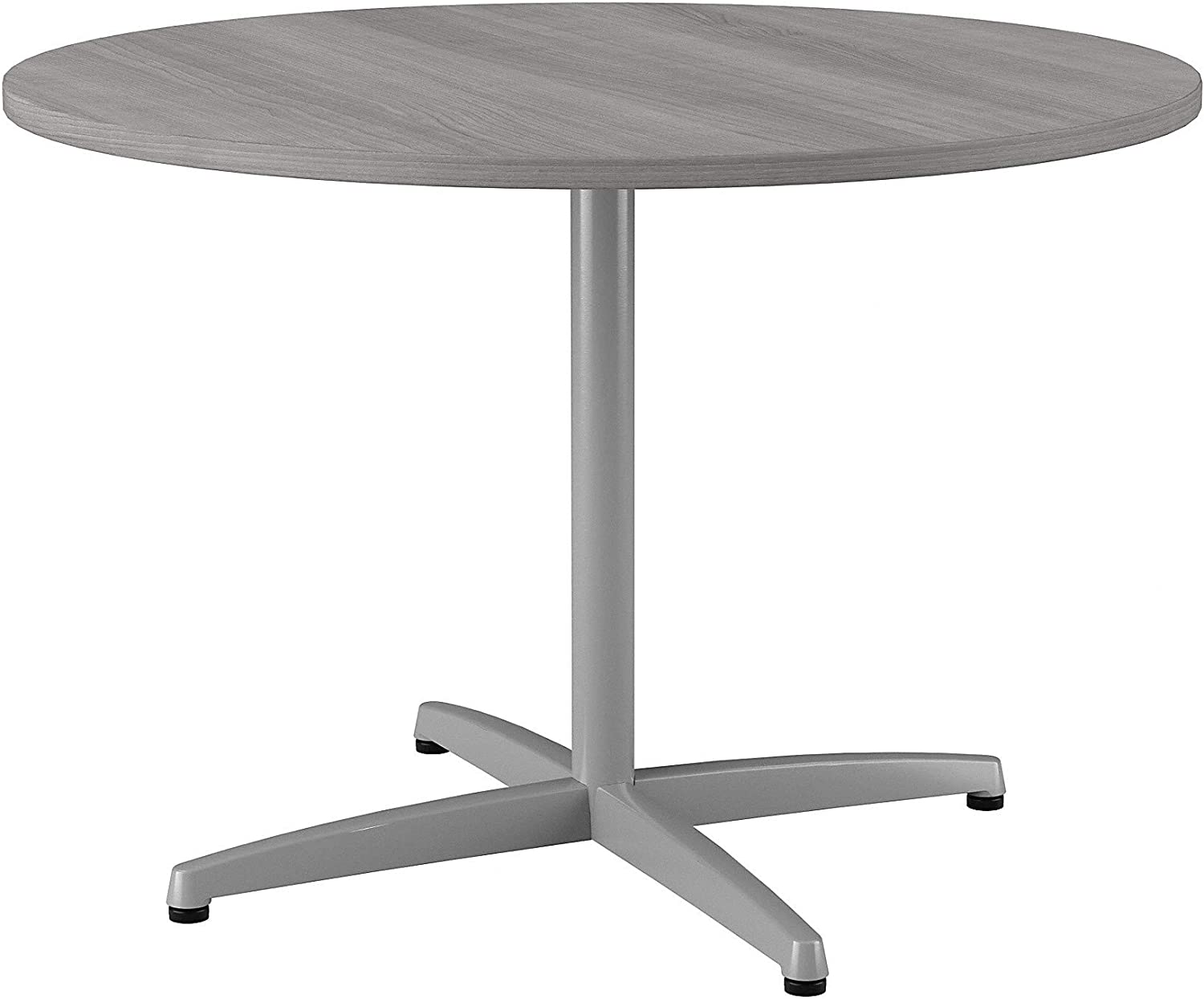 Bush Furniture Bush Business Furniture 42W Round Conference Table with Metal X Base in Platinum Gray