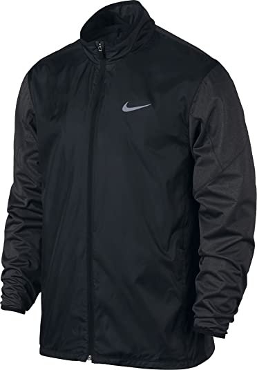 Nike Golf Men's Full-Zip Shield Jacket (Black/Black Heather/Reflective  Silver