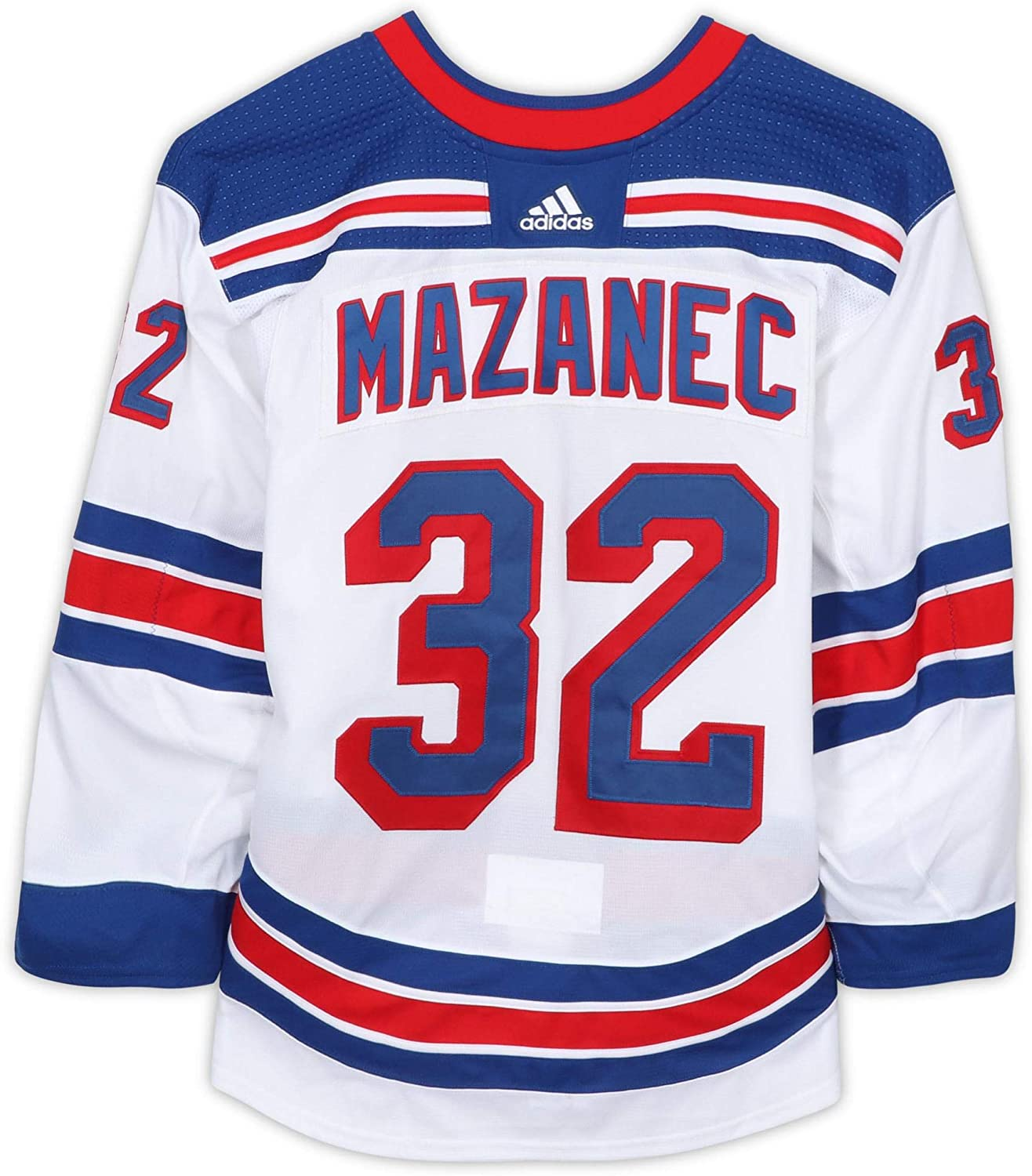 Marek Mazanec New York Rangers Game-Used #32 White Jersey from the 2018-19 NHL Preseason - Size 58G - Game Used NHL Jerseys