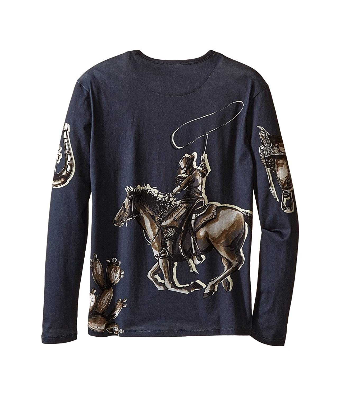Amazon.com: Dolce & Gabbana Kids Boys City Rodeo Cavallo T-Shirt (Big Kids) Navy Print T-Shirt: Clothing