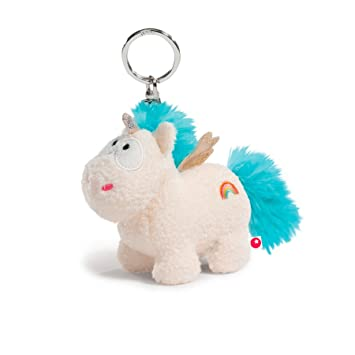 NICI - Theodor & Friends, Unicornio Rainbow Flair, Llavero, 10 cm (40092.0)