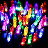 HAYATA - Bombillas transparentes para Navidad, 100 LED de 10 m (10 m)
