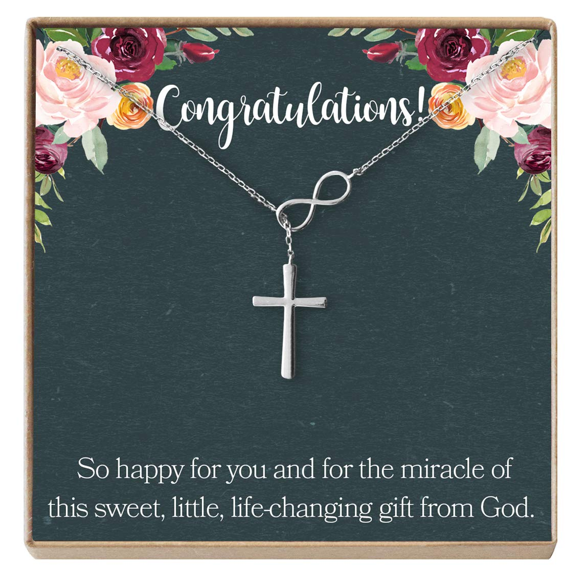 Expectant Mother Dear Ava Pregnancy Gift Necklace Infinity Cross New Mom Pregnant Friend