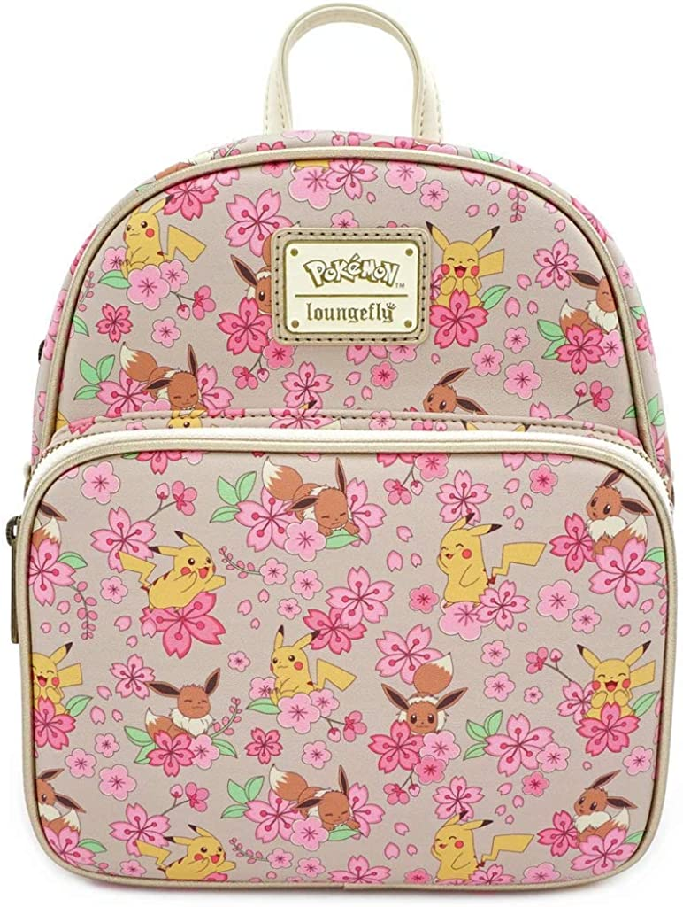 Loungefly x Pokemon Eevee and Pikachu Allover-Print Convertible Mini Backpack