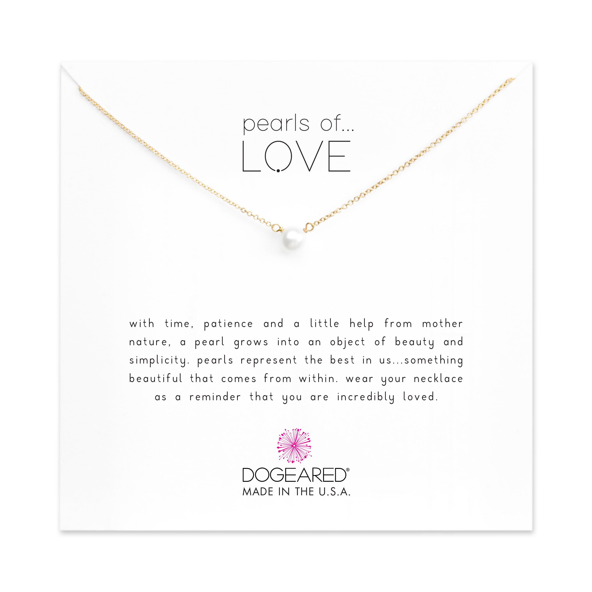 Dogeared Pearls of Love Freshwater Cultured Gold Filled 16'' with 2'' Extender Boxed Necklace