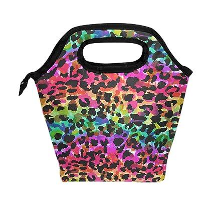 96d238f08f70 Amazon.com: WOZO Bright Animal Spot Rainbow Leopard Print Insulated ...