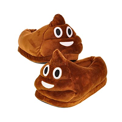 BEST OF SOURCE Fun Warm Cute EMOJ Winter Smiley Poop Shoes Unisex Adult Slippers | Slippers