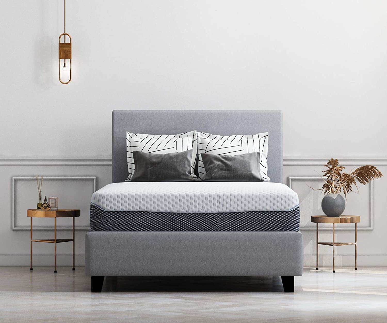 Ashley Furniture Signature Design - 12 Inch Chime Elite Mattress - Full Size - White & Blue