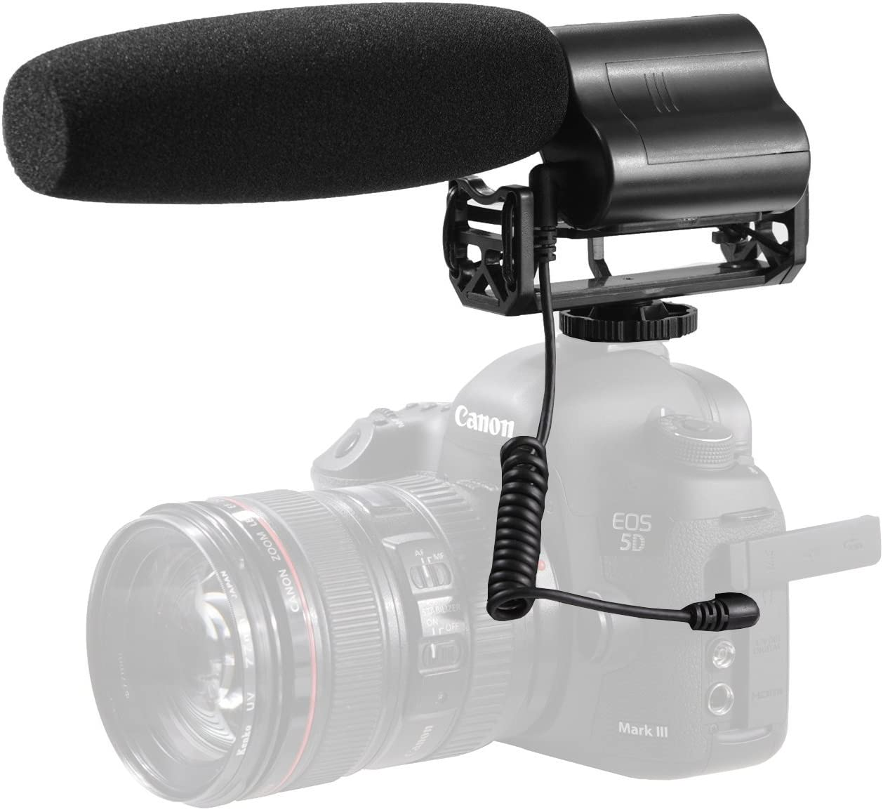 BY-VM01 Super-Cardioid Condenser Microphone Compatible with DSLR Camera /& Camcorder Condenser Microphone