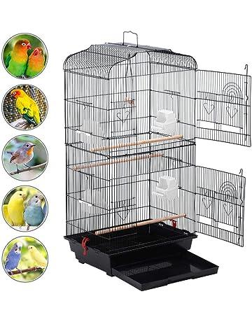 Yahee Jaula para Pájaros Jaula Metálica para Mascota Aves Loros Canarios 46 x 36 x 92