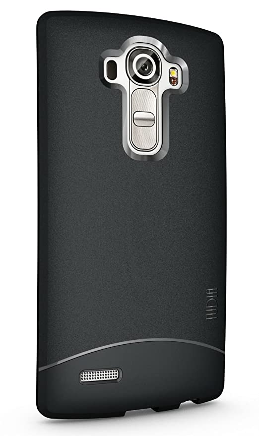 TUDIA LG G4 Funda, Ultra Delgado Mate Completa Arch TPU Caso de Parachoques de protección Funda Carcasas para LG G4 (Negro)