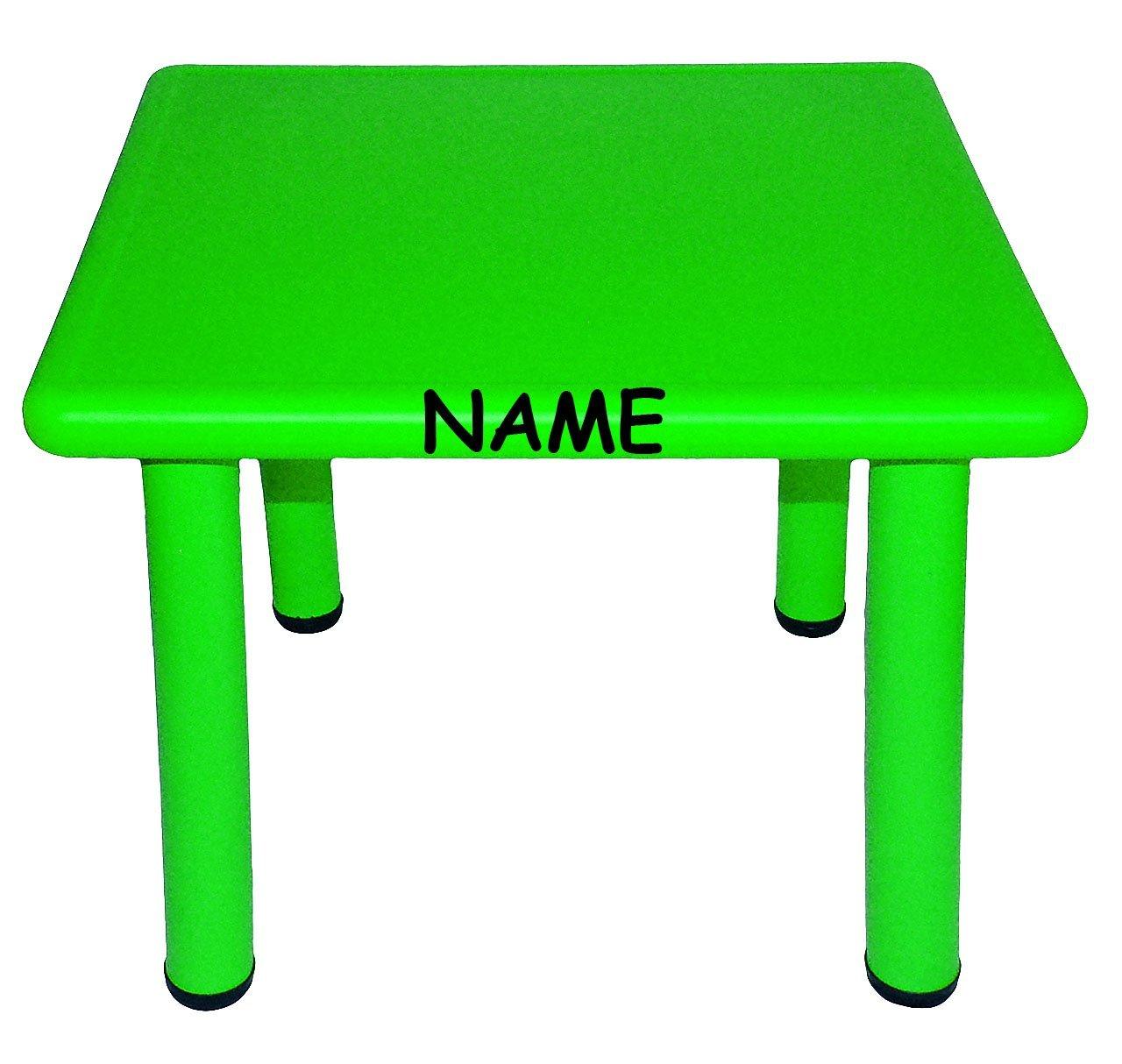 Tisch für Kinder - GRÜN - incl. Namen - für INNEN & AUßEN ...