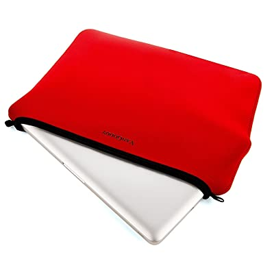 13.3-Inch Lightweihgt Laptop Sleeve Pouch Tablet Pouch Computer Cover for Dell Latitude 12 / XPS 13 / Inspiron 11 / Latitude 13 / Fujitsu STYLISTIC / Lenovo IdeaPad / ThinkPad / Yoga (Red)