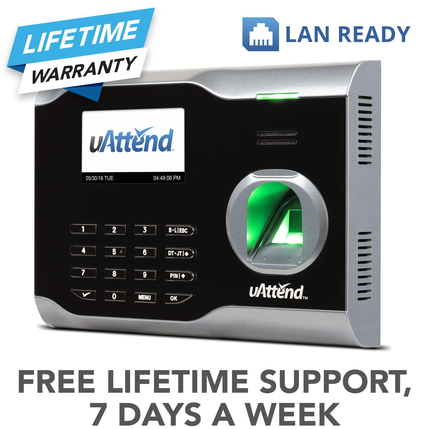 uAttend BN6000 Biometric Fingerprint Time Clock by uAttend