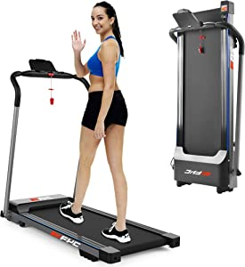 FYC Treadmill Folding Treadmill for Home - Portable Electric Motorized Treadmill Running Exercise Machine Compact Treadmill for Home Gym Fitness Workout Jogging Walking, No Installation Required