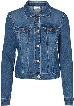 NAME IT Nmdebra L/S Black Wash Denim Jacket Noos Chaqueta vaquera para Mujer