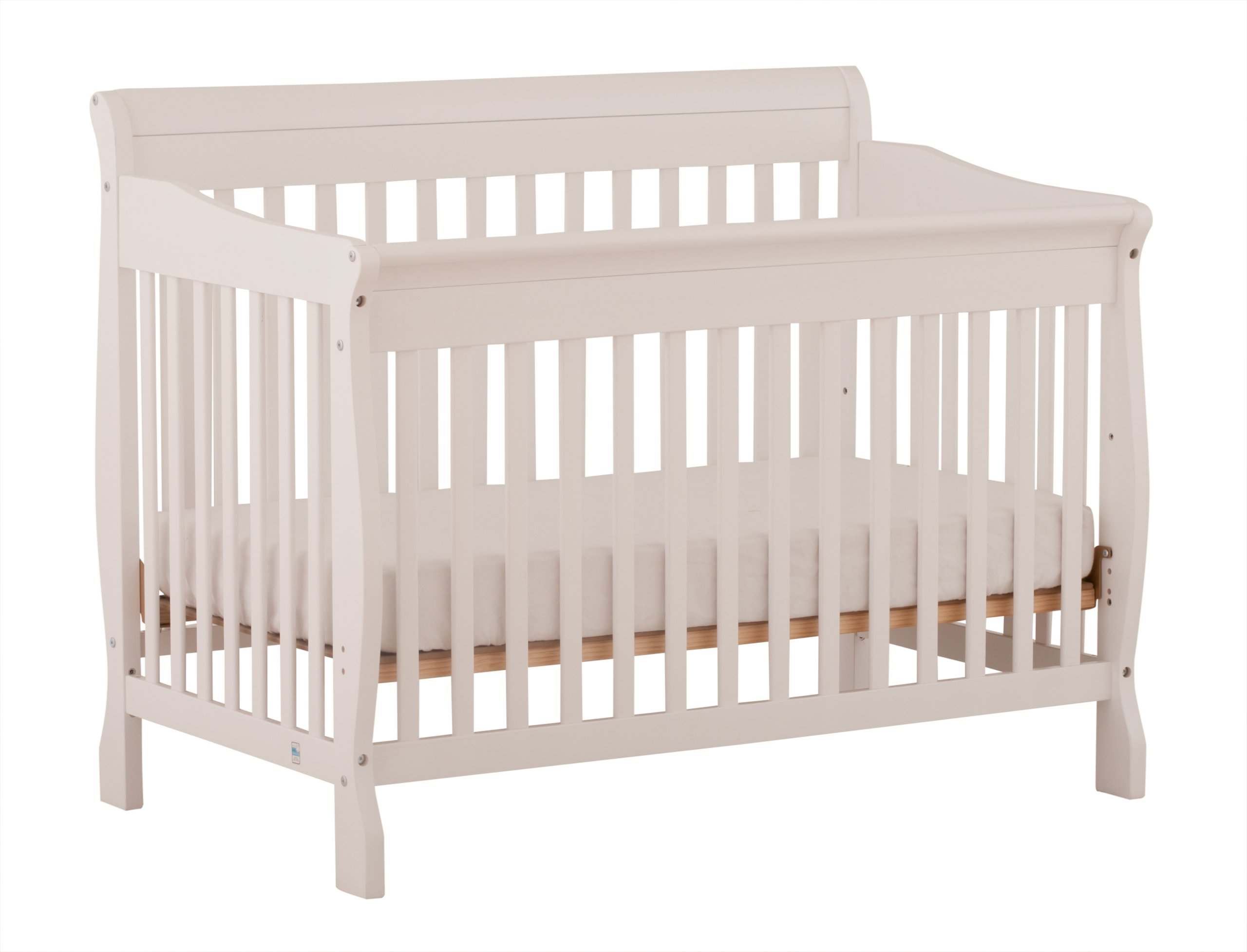 Stork Craft Modena 4 in 1 Fixed Side Convertible Crib, White