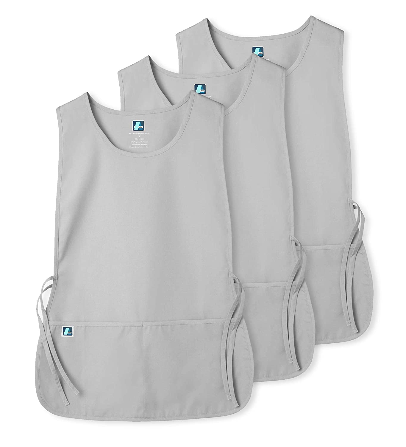 7023 RED Adar Unisex Cobbler Apron R Available in 30 Colors 3 Pack with 2 Pockets // Adjustable Ties