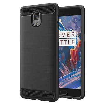 MoKo OnePlus 3 / OnePlus 3T Funda - Ultra Slim Ligero Fibra de Carbono Flexible TPU Suave Amortiguador de Parachoques Goma de Absorción Case Cover ...