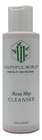 YOUTHFUL.WORLD Rose Hip Cleanser, Gentle Foaming Facial Cleanser