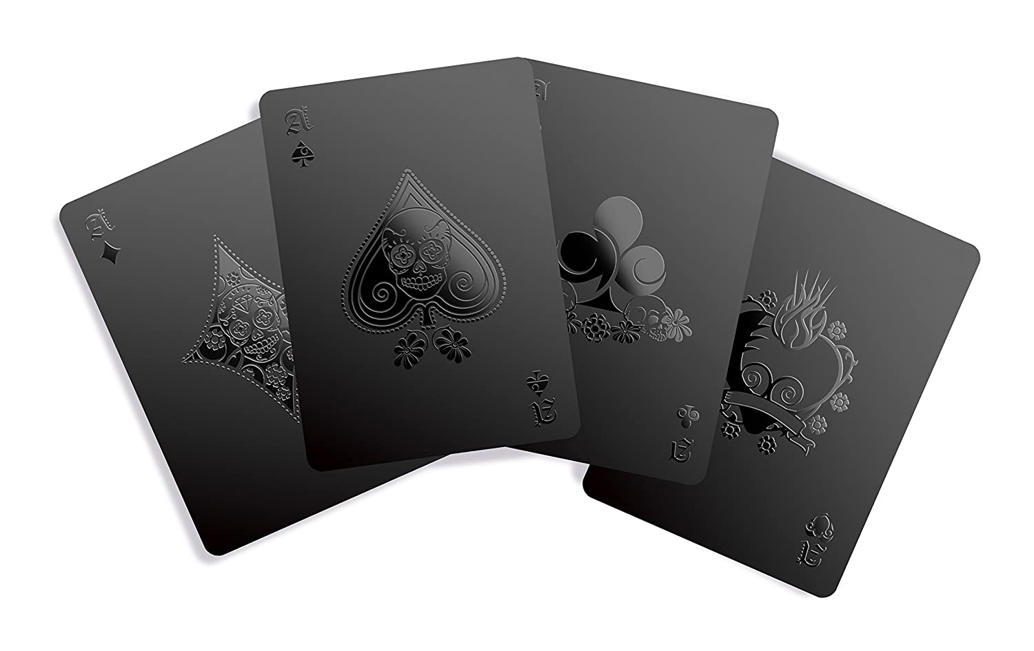 Gent Supply Black Waterproof Playing Cards - Day of The Dead Edition