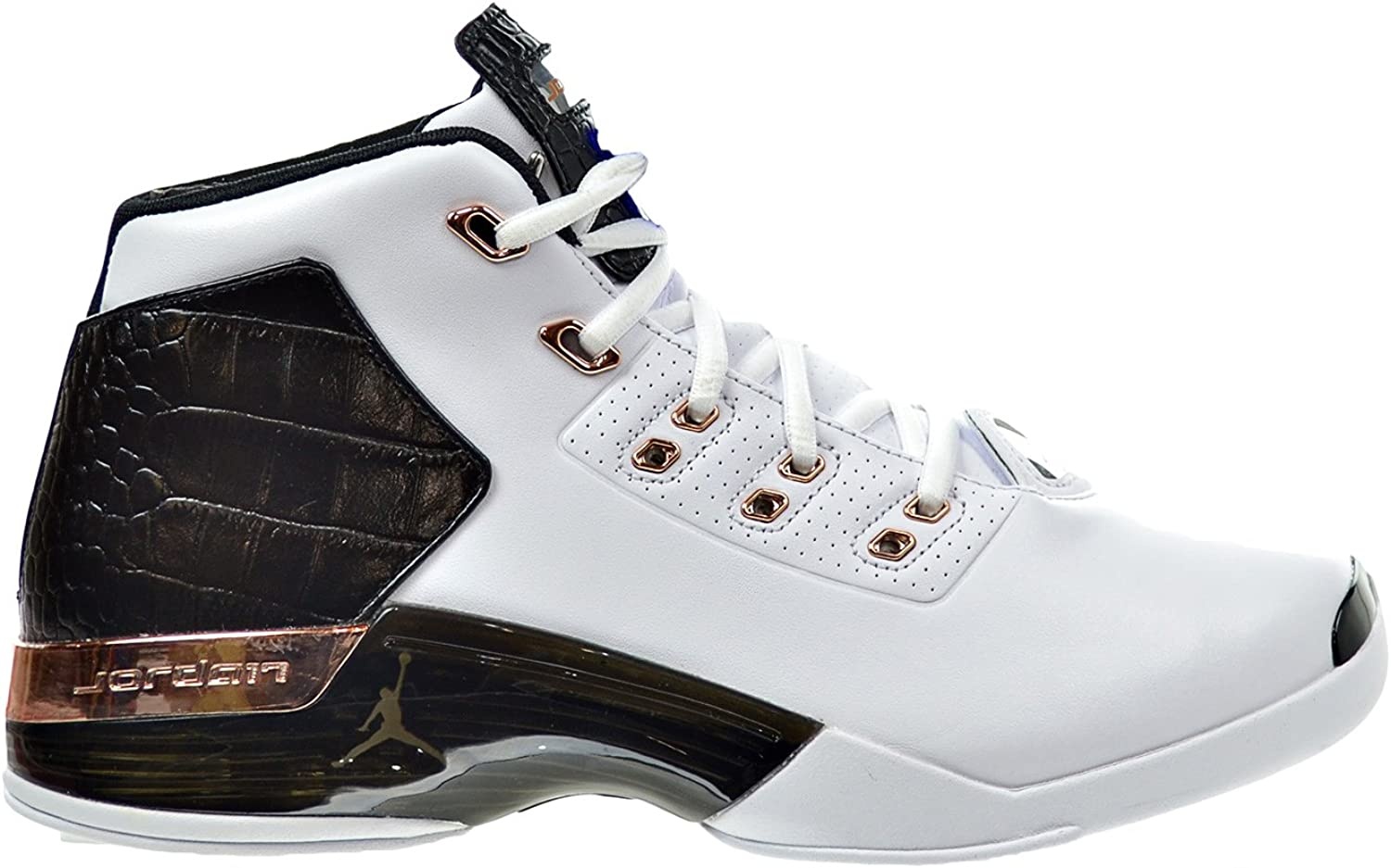 Retro Mens Shoes White//Metallic Copper//Black 832816-122 Jordan Air 17